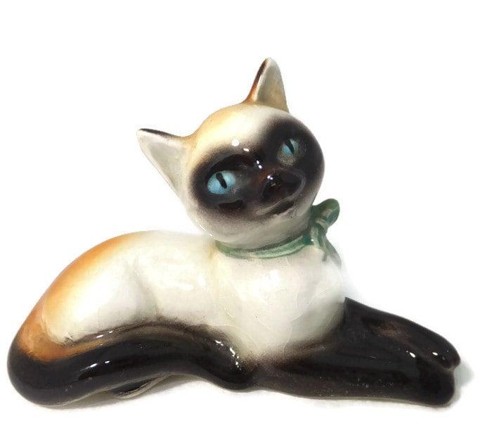 Vintage Siamese Cat Figurine