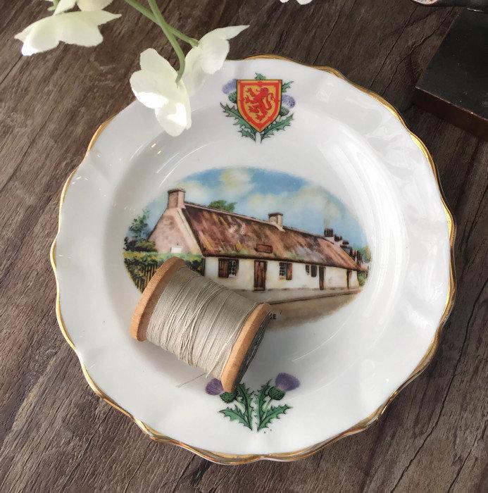Vintage Burns Cottage Dish