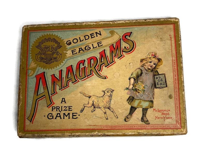 Image 6 of Antique Game - Anagrams - McLoughlin Bros, Original Box, Rare Very God Condition