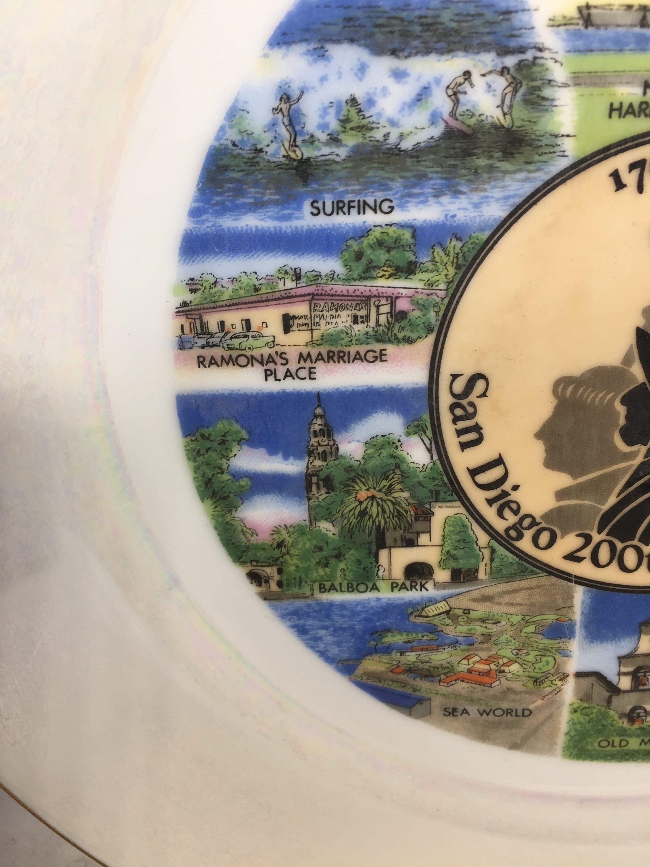 Image 4 of Vintage San Diego Souvenir Plate