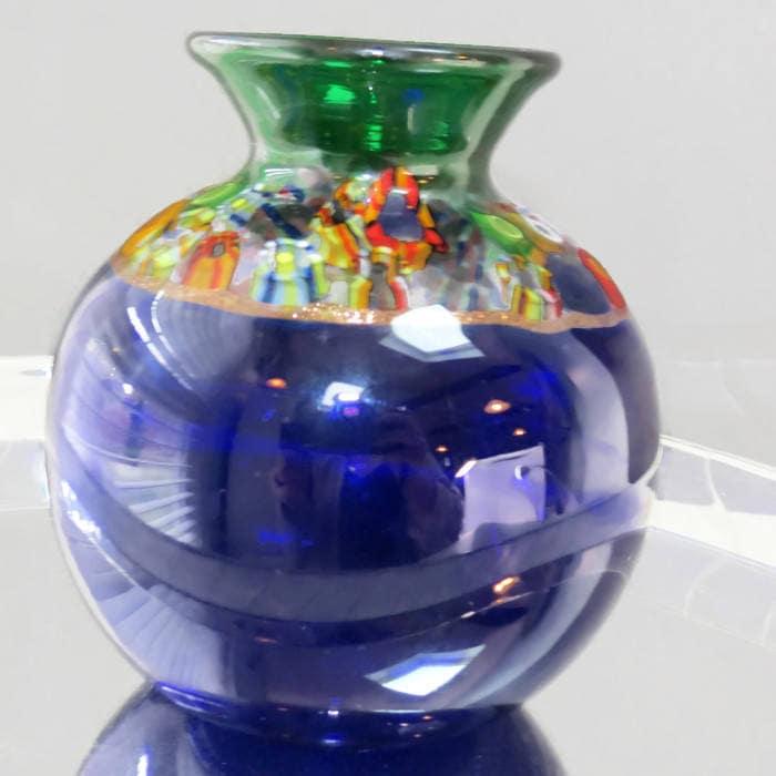 Image 7 of Handblown Blue Glass Vase