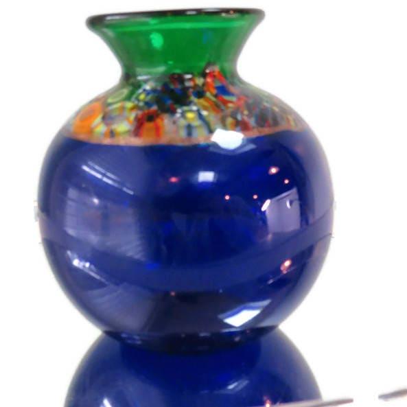 Image 8 of Handblown Blue Glass Vase