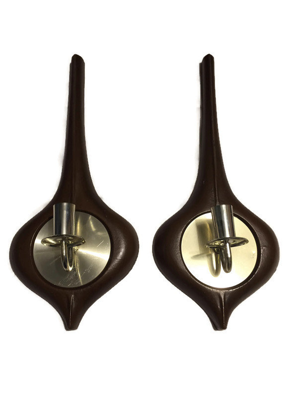 Image 1 of Mid Century Candle Sconces