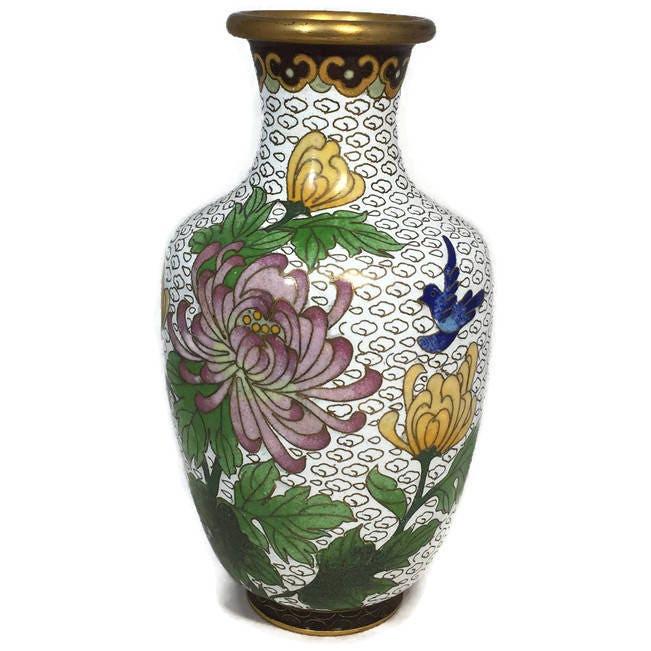 Image 0 of Vintage Cloisonne Vase