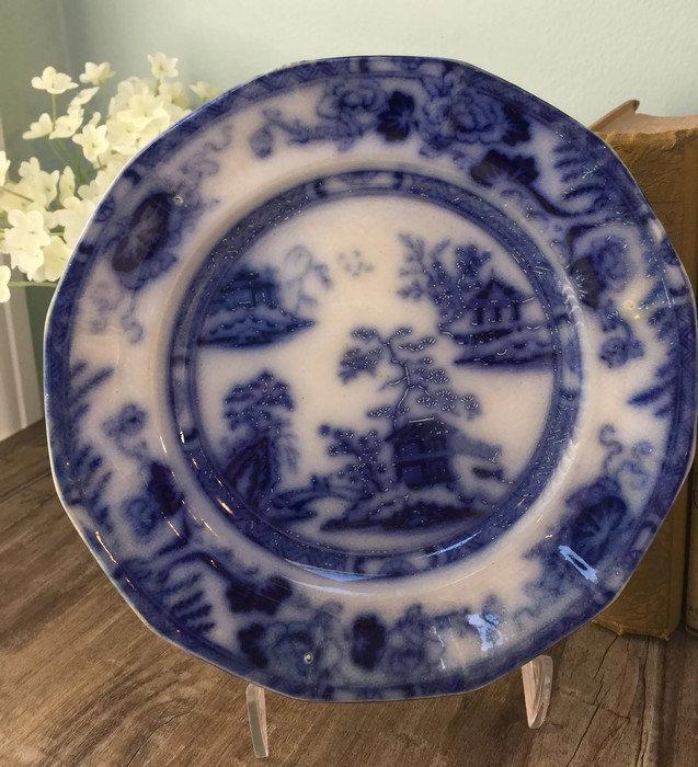Image 8 of Antique Flow Blue Plate