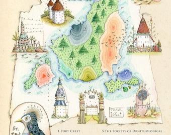 The Isle of St Francis - print of original illustration