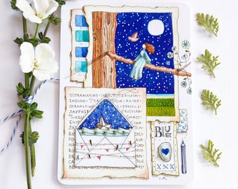 A Love Letter to Blue - Postcard Set