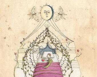 Night Sky Lullaby - print of original illustration