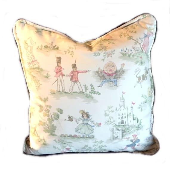 Nursery rhyme pillow | Etsy
