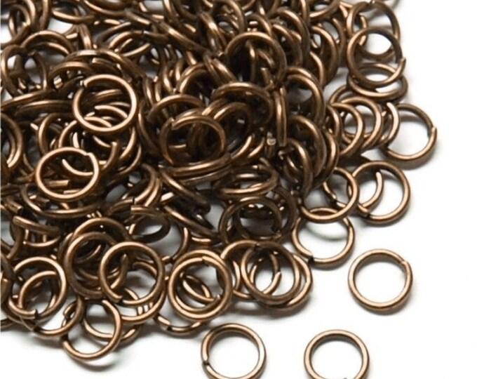 Jump Ring, 5 mm/21 ga, Antique Copper - 10 Grams (JRIAC-0521)