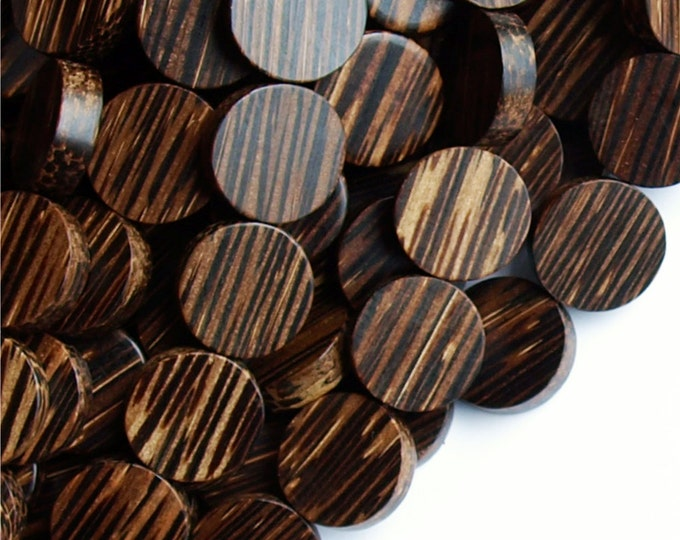 Wood Bead, Coin 15mm, Old Palm - Three 16 Inch Strands (WDCN-15PM)