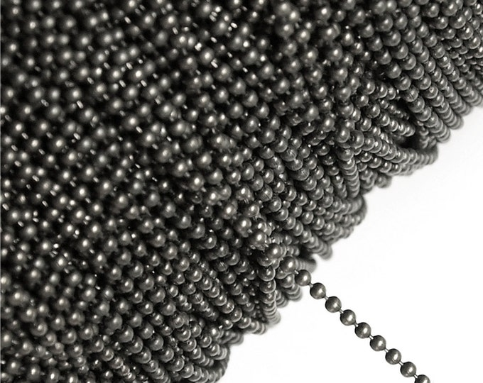 CLOSEOUT - Chain, Ball 1.5mm, Gunmetal - 25 Meters (CHBGM-BL15)