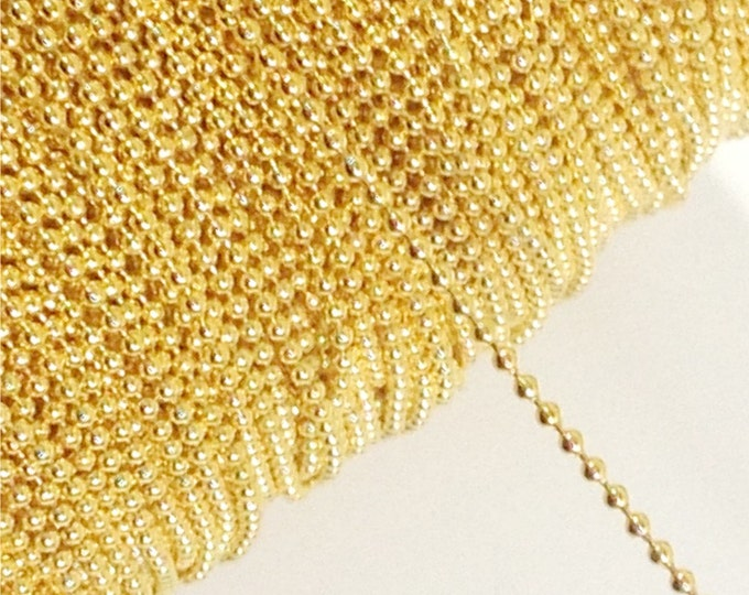 CLOSEOUT - Chain, Ball 1.5mm, Gold - 25 Meters (CHBGP-BL15)
