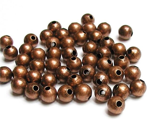 Bead, Round, 3mm, Antique Copper - 500 Pieces (BDBAC-RD30)