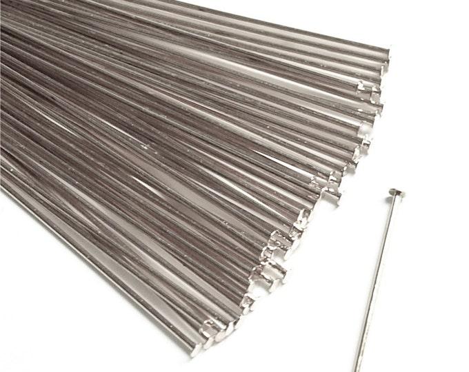 CLOSEOUT - Head Pin, 2 in/21 ga, Silver - 500 Pieces (HPBSP-5021)