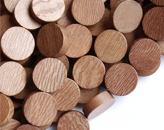 Wood Bead, Coin 15mm, Rosewood - Three 16 Inch Strands (WDCN-15RS)