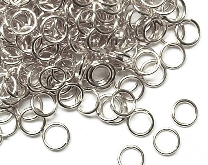 Jump Ring, 5 mm/21 ga, Rhodium - 50 Grams (JRIRP-0521)