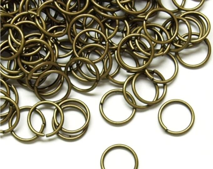 Jump Ring, 7 mm/21 ga, Antique Brass - 10 Grams (JRIAB-0721)