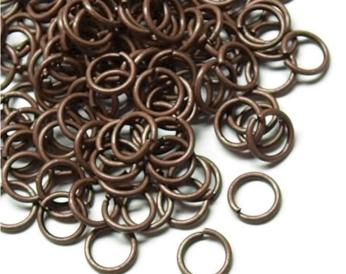 Jump Ring, 6 mm/21 ga, Antique Copper - 10 Grams (JRIAC-0621)