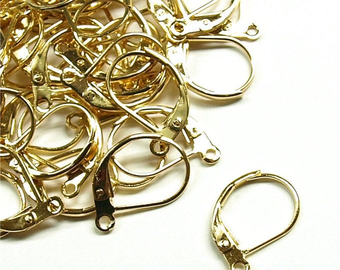 Earwire, Leverback, Gold - 10 Pieces (EWBGP-LB)