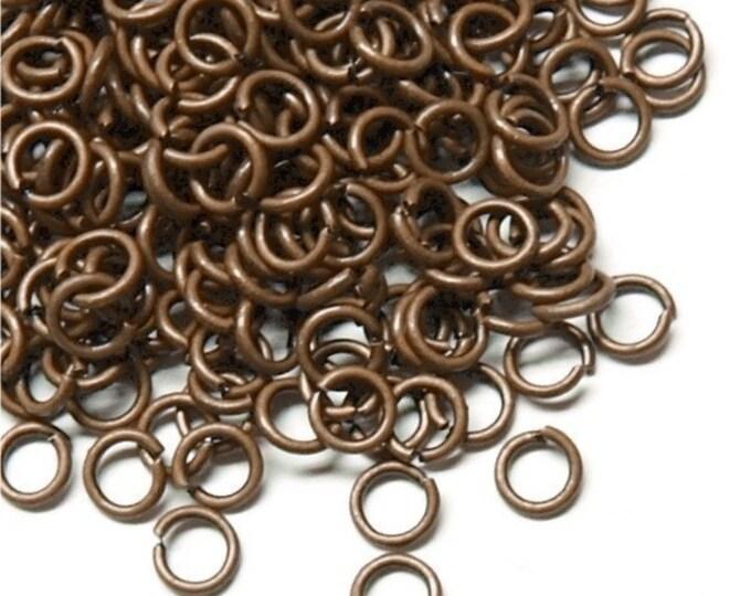 Jump Ring, 4 mm/21 ga, Antique Copper - 10 Grams (JRIAC-0421)