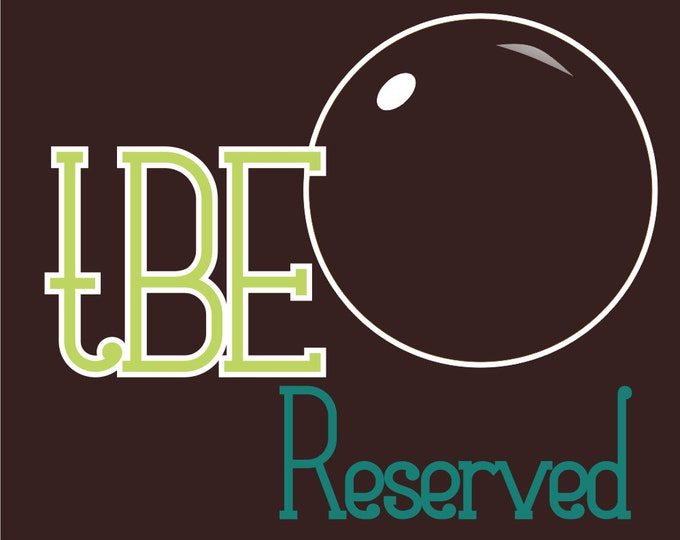 RESERVED for Eloise Pare