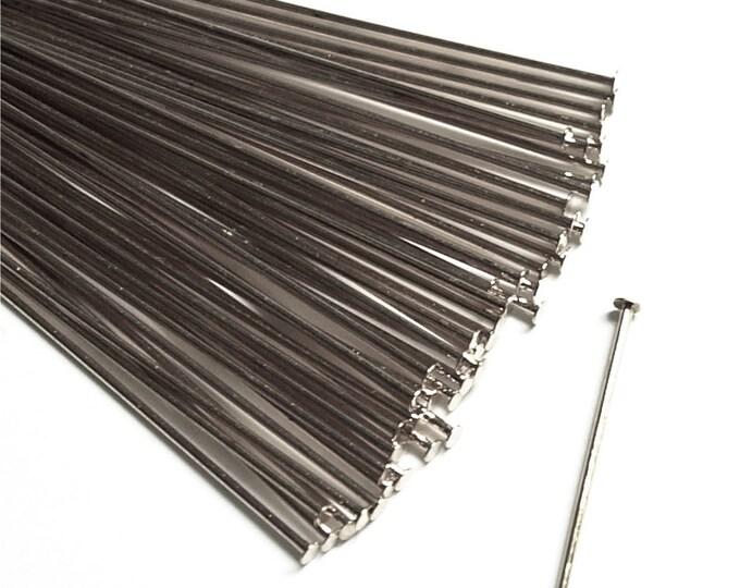 Head Pin, 2 in/21 ga, Rhodium - 50 Pieces (HPBRP-5021)