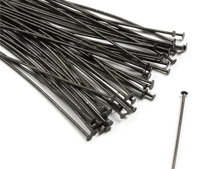 Head Pin, 2 in/24 ga, Gunmetal - 50 Pieces (HPBGM-5024)