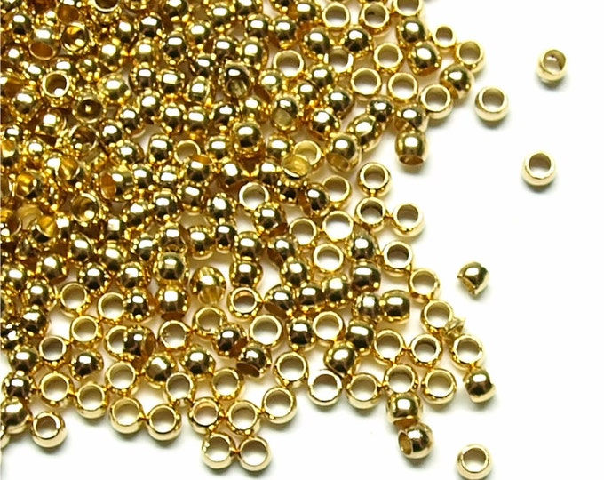 Crimp Bead, 2mm, Gold - 500 Pieces (CBBGP-PL20)