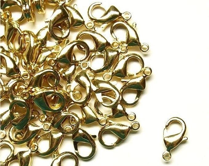 Clasp, Lobster, 10mm, Gold - 10 Pieces (CLBGP-LB10)