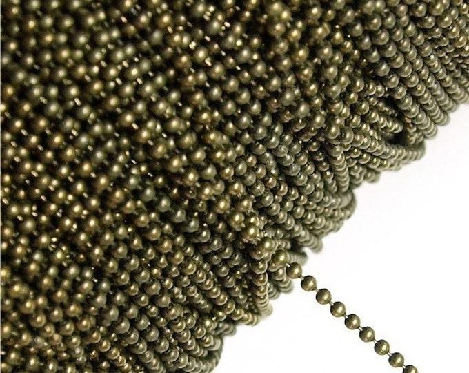 Chain, Ball 1.5mm, Antique Brass - 5 Meters (CHBAB-bl15)