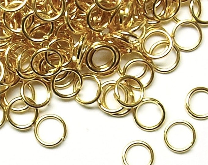 Jump Ring, 6 mm/21 ga, Gold - 50 Grams (JRIGP-0621)