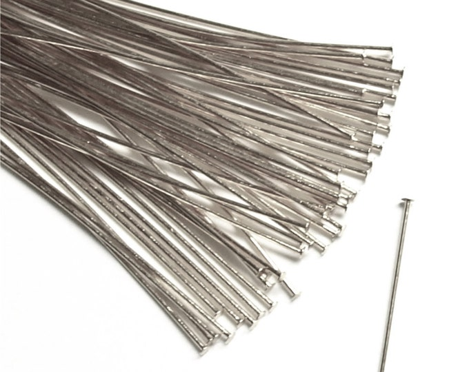 CLOSEOUT - Head Pin, 2 in/24 ga, Silver - 500 Pieces (HPBSP-5024)