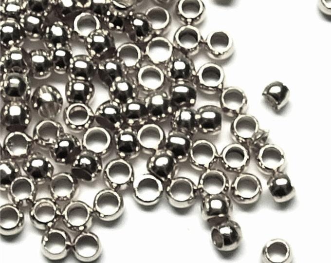 CLOSEOUT - Crimp Bead, 3mm, Rhodium - 500 Pieces (CBBRP-PL30)