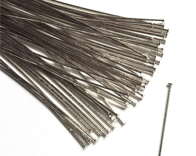 Head Pin, 2 in/24 ga, Rhodium - 50 Pieces (HPBRP-5024)