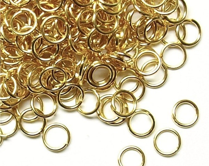 Jump Ring, 5 mm/21 ga, Gold - 50 Grams (JRIGP-0521)