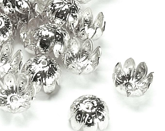 Bead Cap, 10mm, Silver - 10 Pieces (BCBSP-05)