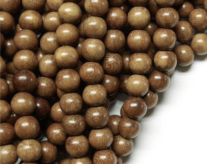 Wood Bead, Round 8mm, Robles - Five 16 Inch Strands (WDRD-08RB)