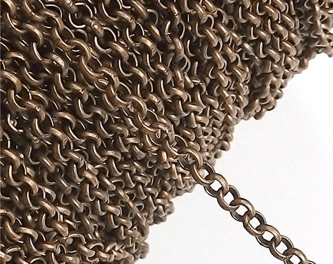 CLOSEOUT - Chain, Rolo 3mm, Antique Copper - 5 Meters (CHIAC-RO30)