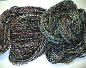 Hand Spun Synthetic Faux Cashmere and Bamboo Yarn for Knitting Yarn