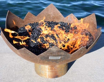 The Great Flaming Lotus 37 inch Sculptural Fire Pit