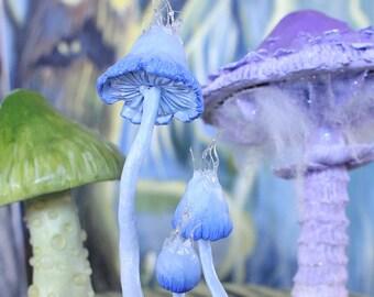 Fantasy Fungi - One of a kind, handmade mushroom figurine