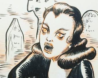 Ghoul, original drawing by Johanna Öst