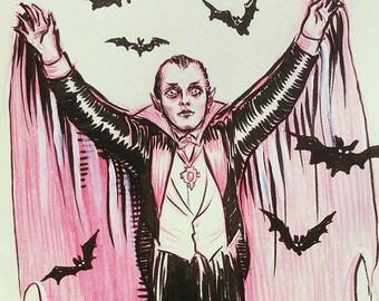 Vampire, original drawing by Johanna Öst