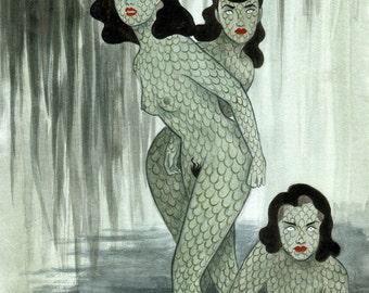 Swamp Girls, archival art print by Johanna Öst