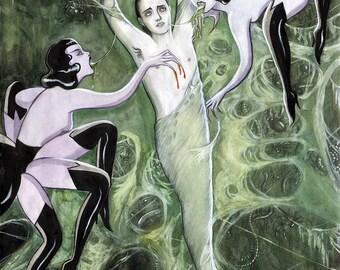 Web, large archival art print by Johanna Öst