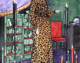 The Witch, large archival art print by Johanna Öst