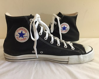 89506e370403 Vintage 80s Made in USA Converse High Top Sneakers Mens 13 EUC!