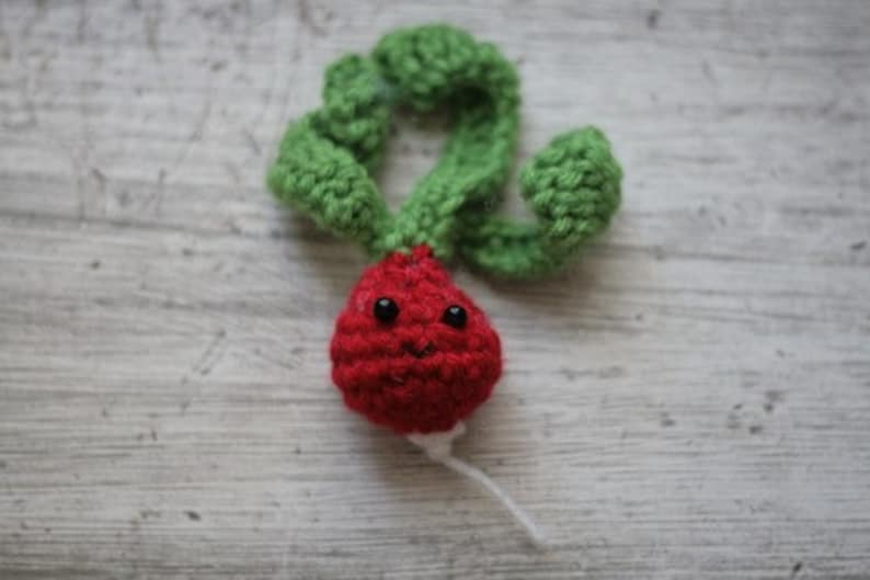Cute little radish  crochet plush image 0