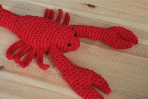 Crochet Lobster Pattern Etsy